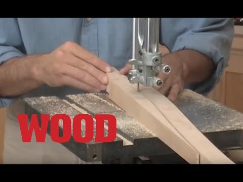 How to Cut Curved Tapered Legs on the Bandsaw - WOOD magazine