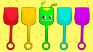 Aprenda os cores em português com Groovy o Marciano - Desenhos Animados