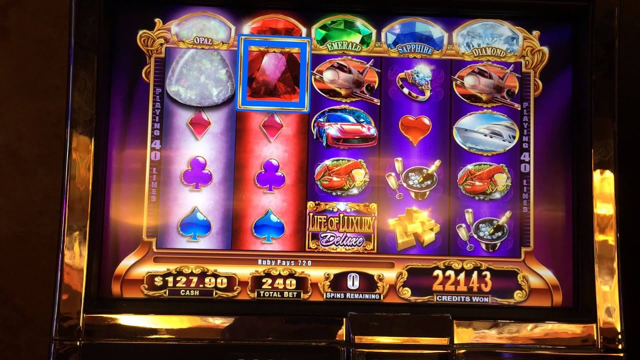 Life Of Luxury Deluxe Slot Machine Bonus Big Win Youtube