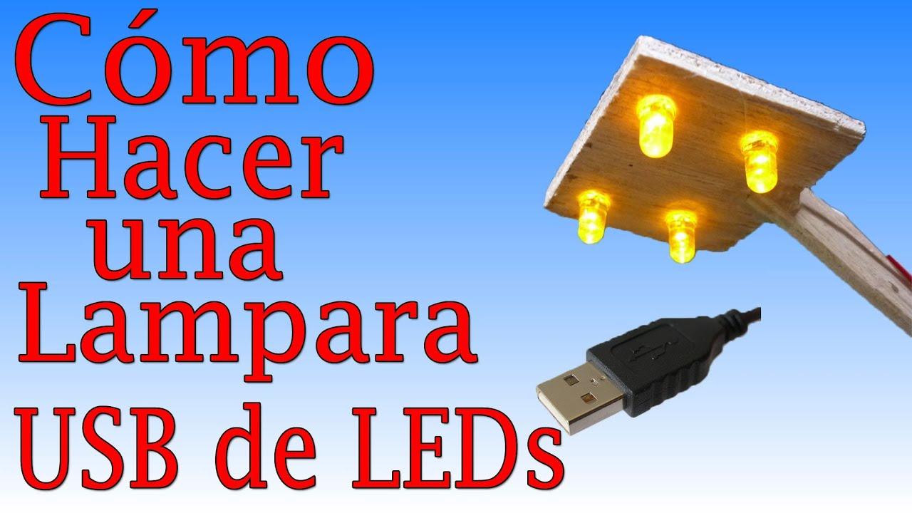 Cómo Hacer Una Lampara de LEDs (Fácil de hacer) - YouTube
