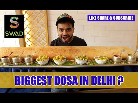 BIGGEST DOSA IN Delhi?| LARGE FAMILY DOSA | GUINNESS WORLD RECORD DOSA | Indian STREET Food