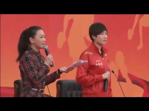 Chinese National Team Visited Shanghai JiaoTong University 2013   Ding Ning   MA Long Part 1