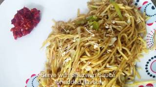 Veg Hakka Noodles | Healthy noodles with sprouts