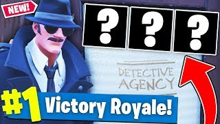 RAGE QUITTING THE *DETECTIVE AGENCY* ONLY CHALLENGE In Fortnite Battle Royale!!