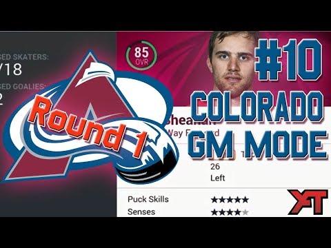 NHL 17 GM Mode #10 l FIRST PLAYOFF RUN! l Colorado Avalanche