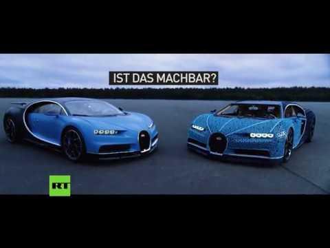 Und er fährt! - Ingenieure bauen Bugatti Chiron in Originalgröße aus Legosteinen nach