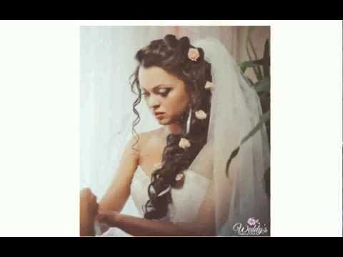 Коллекция свадебных и вечерни причесок. Свадебные прически с живыми цветами.