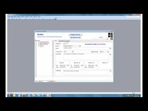 Project Administrator Change Control function