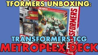 TFORMERS UNBOXING: Transformers Trading Card Game METROPLEX Deck