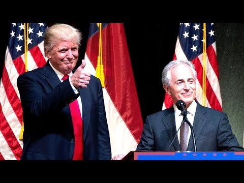 Senator Bob Corker Speech with Donald Trump at Raleigh North Carolina Rally no VP Pick Yet