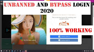 How to Unbanned Aฑd Bypass Login on OmeTV - Facebook and VK Login Bypass Ome TV