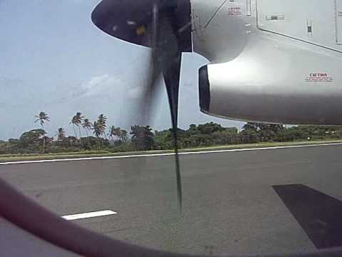 TAB Caribbean Airlines Dash 8 Landing Crown Point Tobago Bombardier