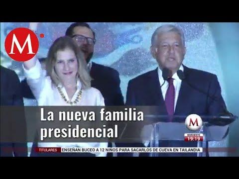 Integrandes de la nueva familia presidencial