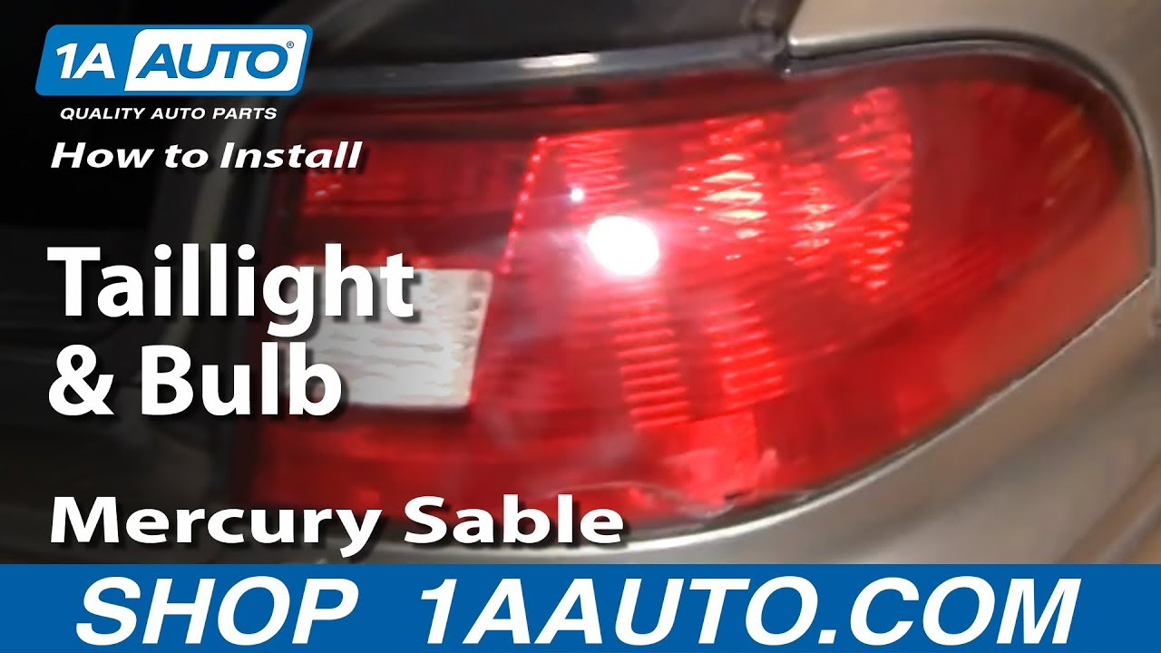 install replace taillight  bulb mercury sable