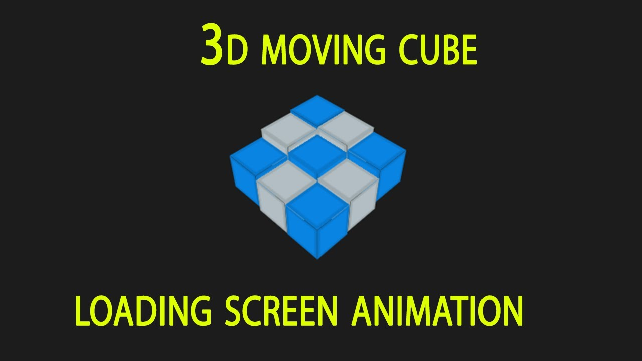 How To Create A 3d Animated Cube Using HTML and CSS