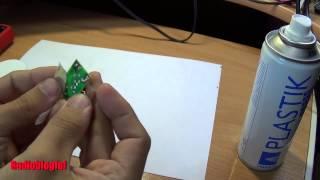 Лак-спрей PLASTIK для защиты печатных плат. Обзор и тест
