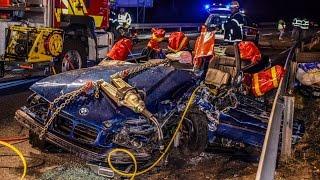 BMW MASSIV ZERSTÖRT: FAHRANFÄNGER bei HORRORUNFALL schwer eingeklemmt | GROSSES TRÜMMERFELD