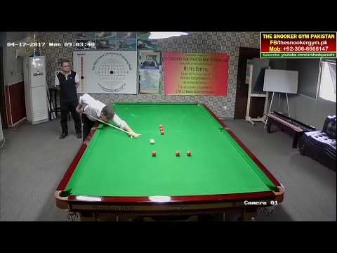 Snooker Coaching! Potting Practice Routine By Saif Abbas At TSG.PK