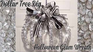 Brand New! Dollar Tree Diy / Glam Halloween Pumpkin Wreath