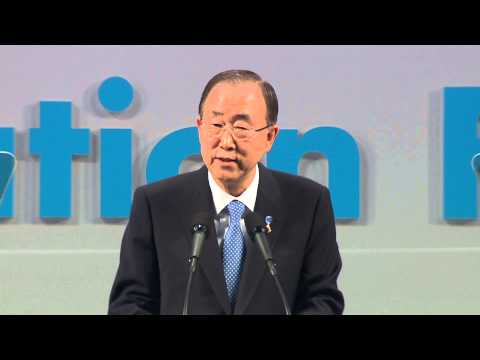 UN Secretary General Ban Ki-moon speaks at the World Education Forum 2015, Incheon, Korea