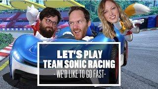 Let's Play Team Sonic Racing split screen multiplayer - UMMMM, MEOW?!