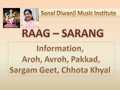 Raag Vrindavani Sarang L With Notations L राग वृंदावनी सारंग L Raag Sarang L Lesson L Sonal Diwanji