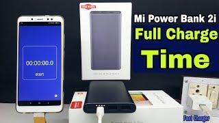 mi power bank 2i 10000 mAh Full charging time