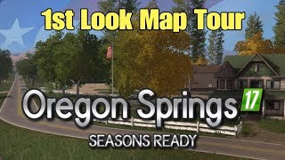 Let's Play Farming Simulator 17 PS4: Oregon Springs 17 (1st Look Map Tour)