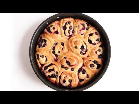 Lemon Blueberry Rolls Recipe - Laura Vitale - Laura in the Kitchen Episode 927