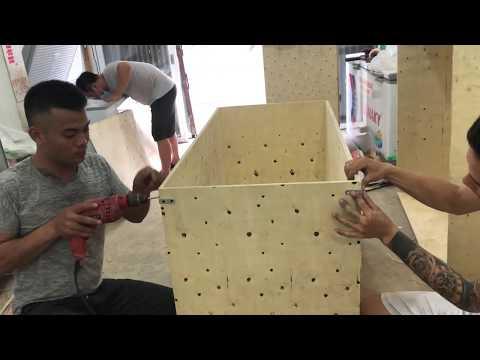 VIDEO Hướng Dẫn Trực Tiếp Kỹ Thuật đóng Thùng Nuôi Dế Trại Trang Trại Thanh Xuân