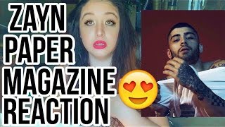 REACTING TO ZAYN'S PAPER MAGAZINE PHOTOSHOOT + INTERVIEW
