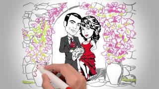Видеооткрытка - приглашение на свадьбу