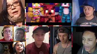 """""""The Foxy Song""""   Minecraft FNAF Animation Music Video (by Groundbreaking) [REACTION MASH-UP]#159"""
