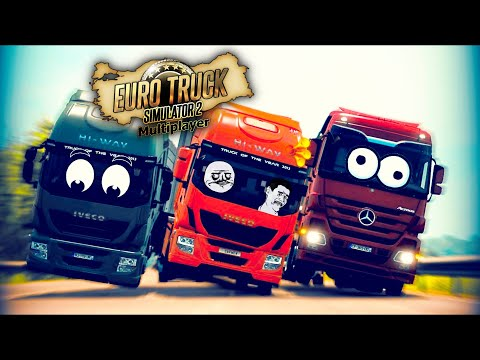 IDIOTS On The Road (Funny Moments) - Euro Truck Simulator 2 Multiplayer