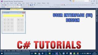 P(1/7) C# Tutorials - Wie erstelle Rechner (UI-Design)