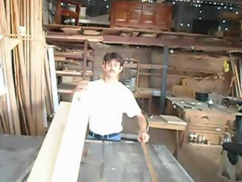 Carpintera  Como Enderezar Madera  YouTube