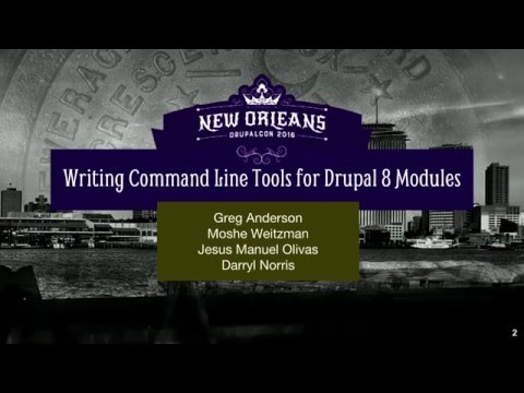 Writing Command Line Tools for Drupal 8 Modules