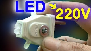 LED   simple night light circuit, light  emitting diode connected to 120240 VAC   Alf