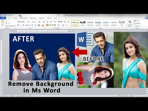 Word Tutorial || How to Remove Picture Background in ms ms word ||