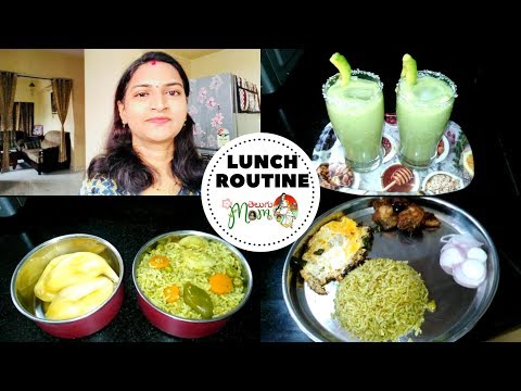 Indian Mom Breakfast to Lunch Vlog || My Lunch Box Routine || Palak Pulao Recipe