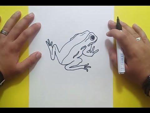 Como dibujar una rana paso a paso 7  How to draw a frog 7  YouTube