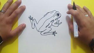Como dibujar una rana paso a paso 7 | How to draw a frog 7