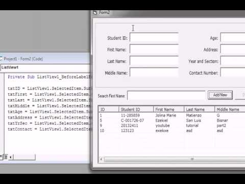 VB6 adodb + Listview + Access part2