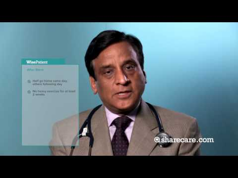 Dr. Samin Sharma on Recovery Following Stent Placement and Heart Surgery