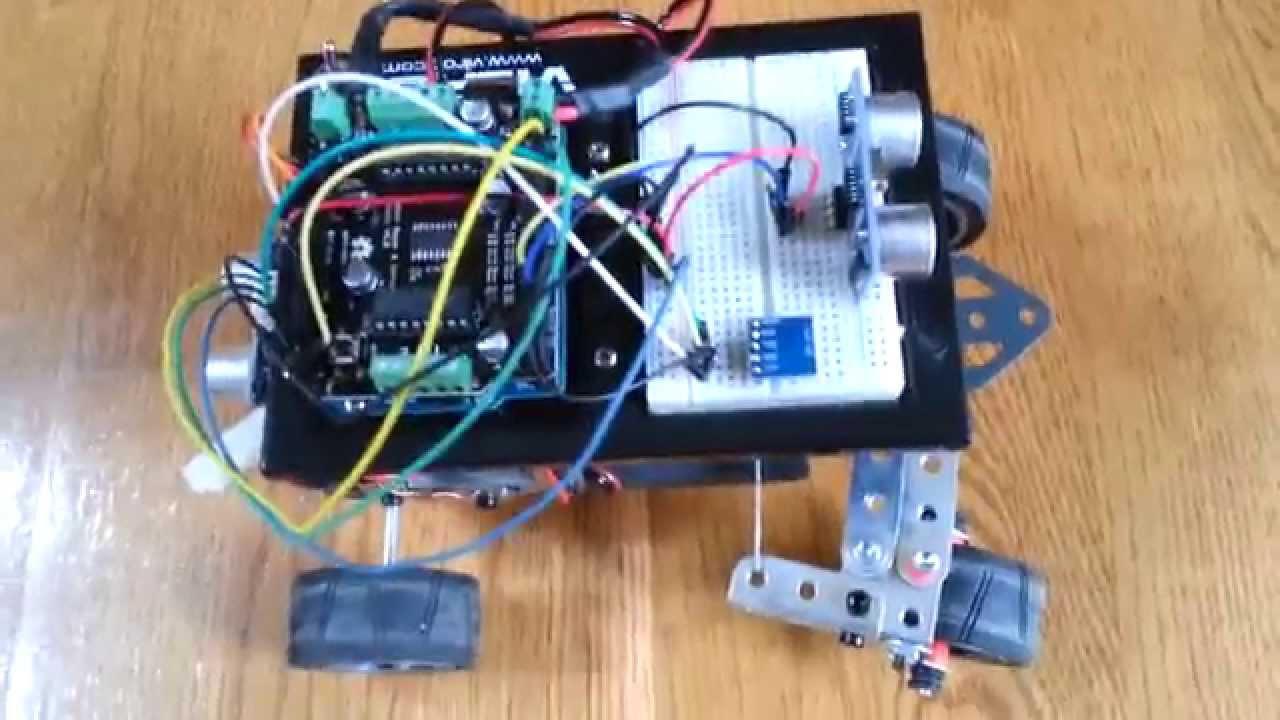 Arduino robot car autonomous driving and obstacle