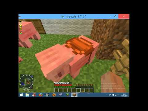 Monter a dos de cochon dans minecraft youtube - Minecraft cochon ...
