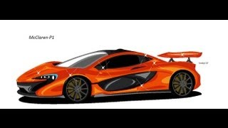How To Draw The McLaren P1 (MS Paint)