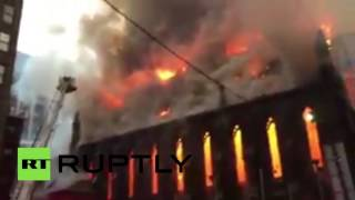 Serbian Orthodox Church in Manhattan on fire after Orthodox Easter celebration