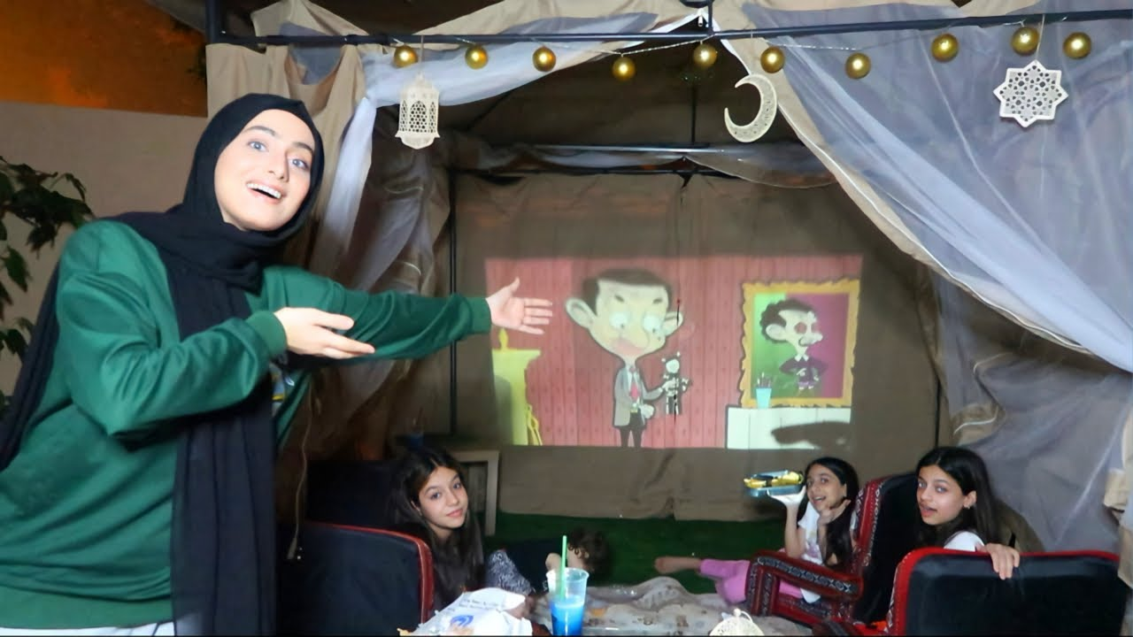 حولت الخيمة لسينما🍿😱!!
