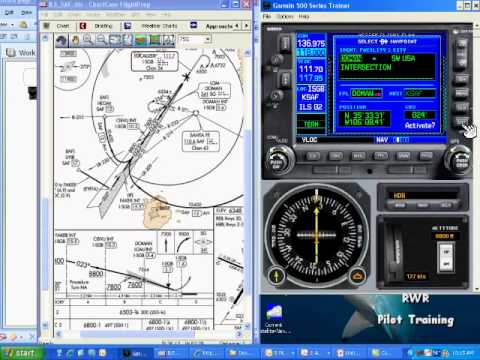 Setting up a Published Hold with a Garmin G530 GPS - A Chalk Talk